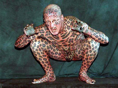 tattooed body. most tattooed man
