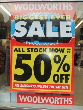 up to 50% off in stores