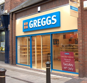 A typical Greggs store