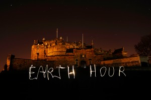 Edinburgh Castle turns off their lights for 'Earth Hour'    Credit: WWF