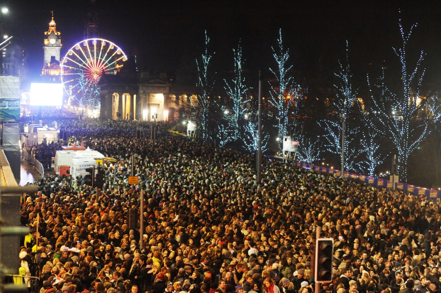 Street Party in Edinburgh for the New Year.