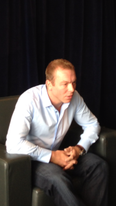 Chris Hoy announces retirement in Edinburgh.