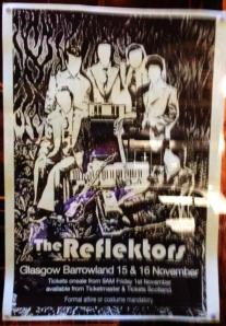The poster advertising the latest shows.