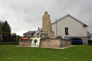 Valleyfield memorial statue to the men who died in one of Scotland's worst mining disasters.