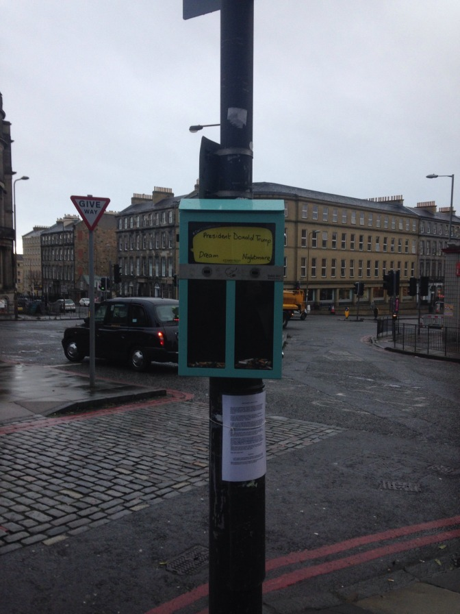Vote with your butt: Ballot Bins appear in Leith