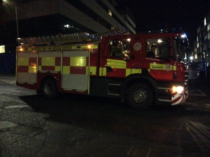 Edinburgh College evacuated over candle flame